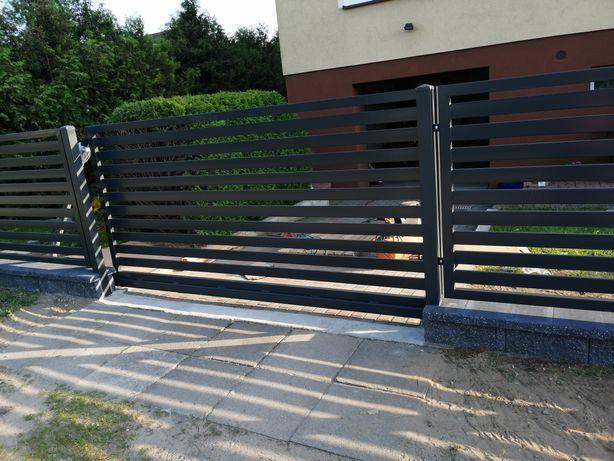 Brama przesuwna, bez montażu,balustrady