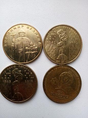 Продам монеты 1 гривня евро 2012