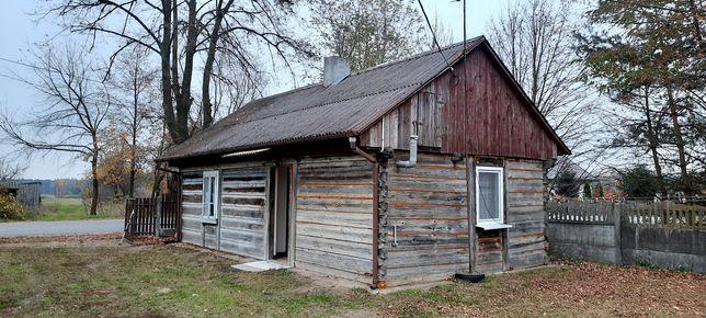 Stary drewniany dom - 45m2 (bale, deski) / Grabów nad Pilicą