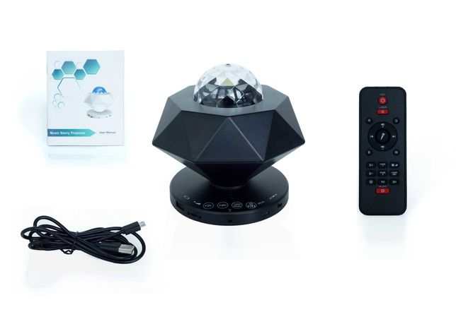 Lampa Projektor LED Gwiazd/Nieba/Fal Oceanu Czarny Brylant 2 Lasery