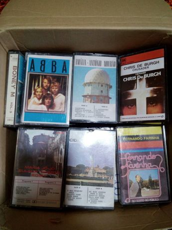 Cassetes de áudio antigas