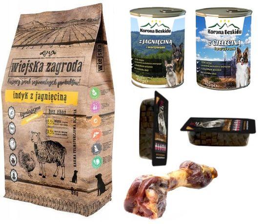 Karma Dla Psa Wiejska Zagroda indyk z jagnięciną 9 kg + Gratisy