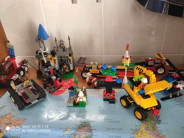 Legos Antigos Knights Mc Donalds Bombeiros Jurassic Park Race