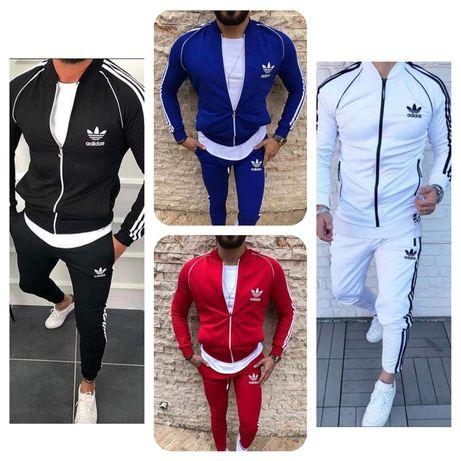 Dres zestaw meski bluza spodnie Adidas s m l xl xxl Premium