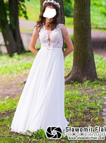 Suknia ślubna - kolor ecru