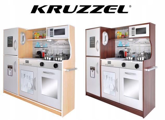 Кухня детская деревянная с посудой KRUZZEL большая дитяча кухня Нова