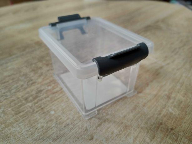 Pudełeczko plastikowe na szpargały, fauna box, małe, przejrzyste