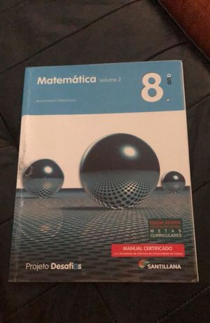 Manual de Matemática 8º ano pouco uso