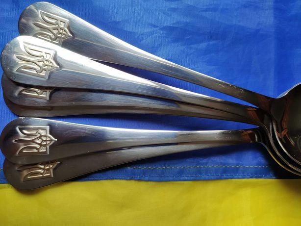 Ложки Тризуб Герб Украины столовые приборы набор