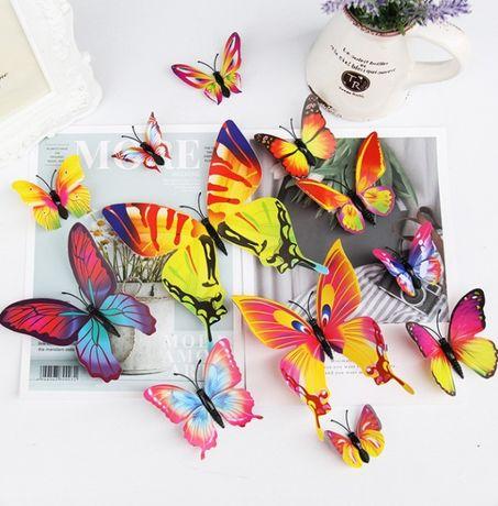 Декор для стен, бабочки, 3д бабочки, декоративные, 3D эффект
