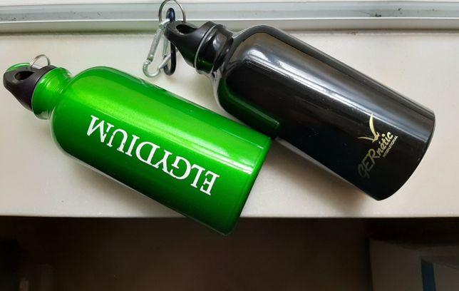2 garrafas reutilizáveis água pequenas metal