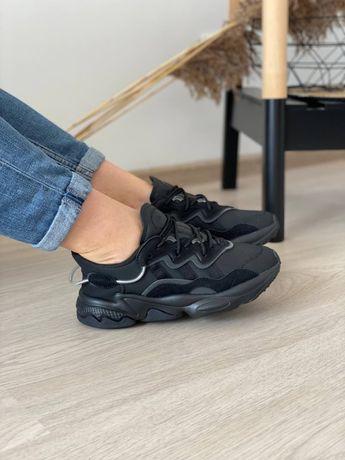 Женские осенние кроссовки Adidas Ozweego Adiprene black