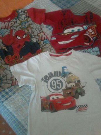 3 t-shirts de menino 4 a 6 anos