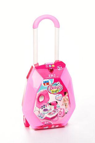 Toaletka dla dziewczynki walizka zestaw kosmetyczny