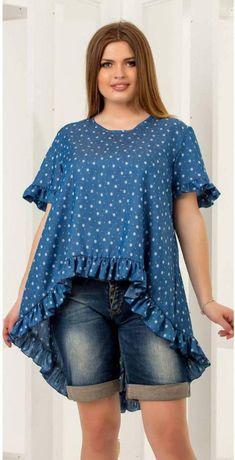 Летняя джинсовая блузка