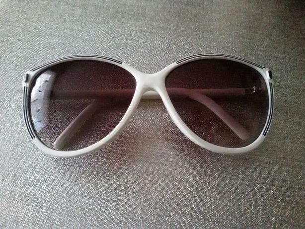 Okulary damskie białe oprawki przeciwsłoneczne