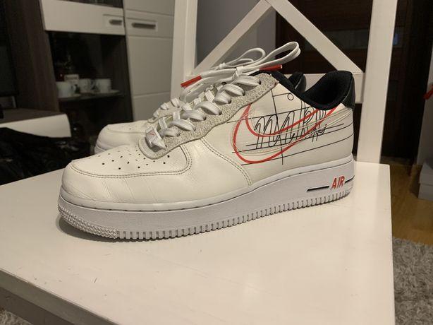 Unikatowe Nike AF1 air force 1 EOS script swoosh streetwear 40.5 9/10