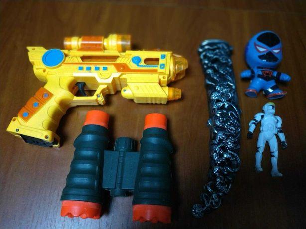 Набор игрушек бинокль солдат оружие для мальчика