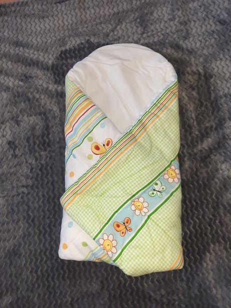 Rożek niemowlęcy becik otulacz usztywniany