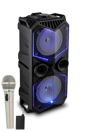 Głośnik Karaoke Bluetooth USB + MIC Bezprzewodowy