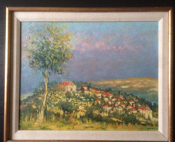 Obraz Olej na płycie BOLESŁAW BAAKE Antyk Sztuka malarstwo