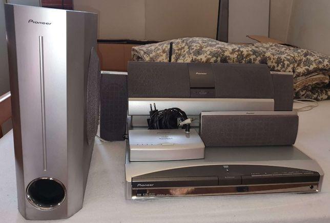 Sistema colunas surround 5.1 DTS Pioneer XV-DV515 Leitor CD/DVD -Porto