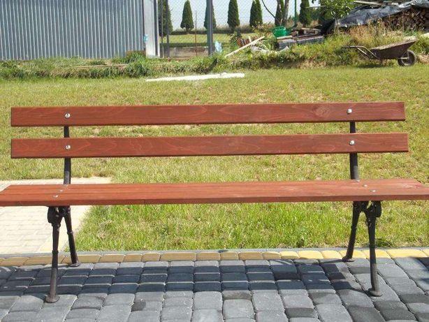 Ławka ogrodowa drewniana - szer.180cm, nowa, ławki