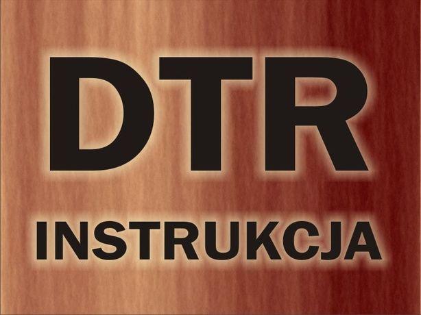 DTR, instrukcje obsługi maszyny