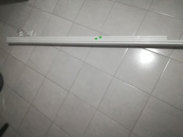 Karnisz szynowy sufitowy PCV II torowy (2 x 180cm)+Agrafki
