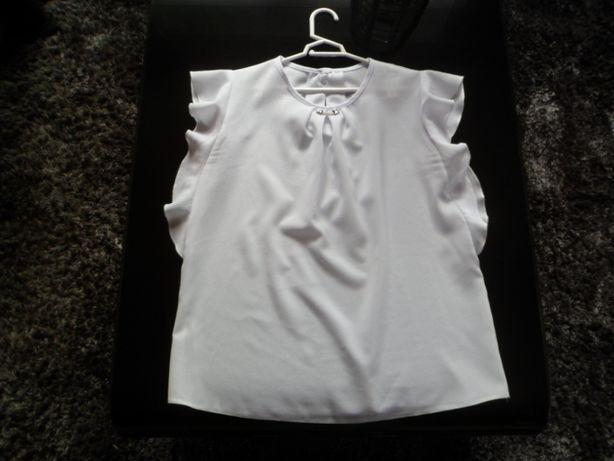 biała bluzka na okazje r.140-146