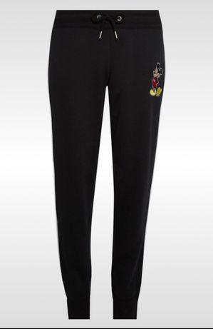 Dresy mickey mouse dresowe spodnie czarne joggery nowe primark xxs xs