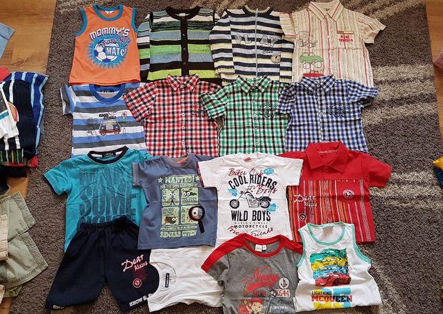 Zestaw koszulki koszule spodenki sweter rozmiar 92/98 dla chłopca 16