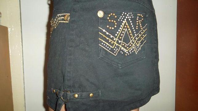 Юбка черная джинсовая стрейчевая 46 р-р