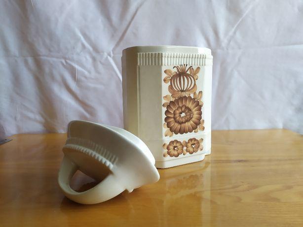 ceramiczny pojemnik do kuchni z fajansu Włocławek