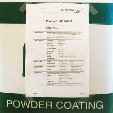-87% Farba Proszkowa Lakier Podkładowy AkzoNobel Interpon A4700 20kg