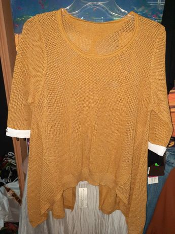 Musztardowy sweter r.m 38 j.nowy!okazja!