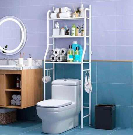 Полка над туалетом. Регулируется. Стеллаж, шкаф в ванную. Стойка.