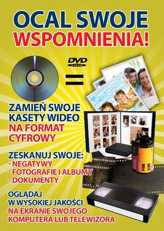 Przegrywanie kaset Video na płyty DVD pendrive'a. Skanowanie slajdów