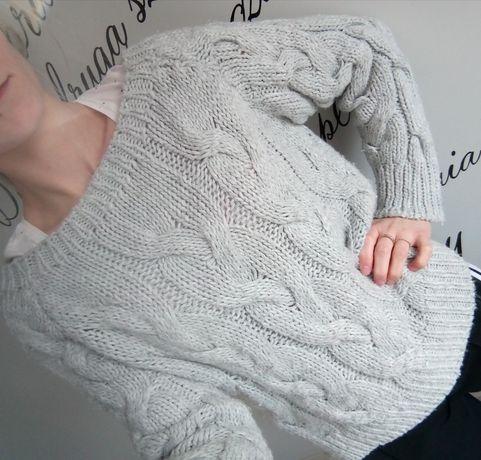 Swetr, sweterek, bluza, pleciony, przejściowy, wiosenny, jesienny