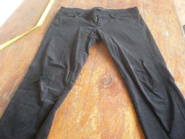 Calças bombazine pretas Mango 38