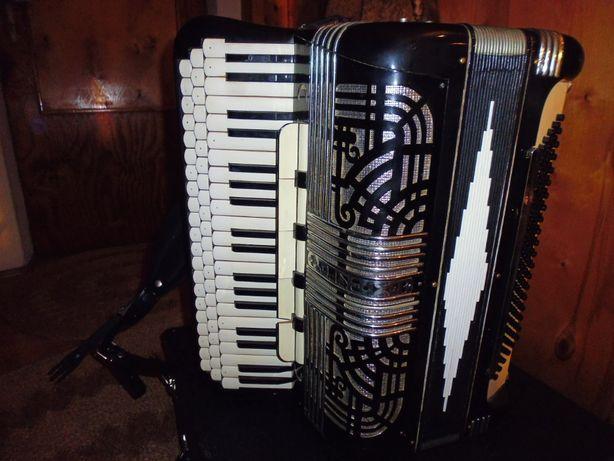 Akordeon harmonia trzyrzędowa włoska Polytone kanałowa!!!