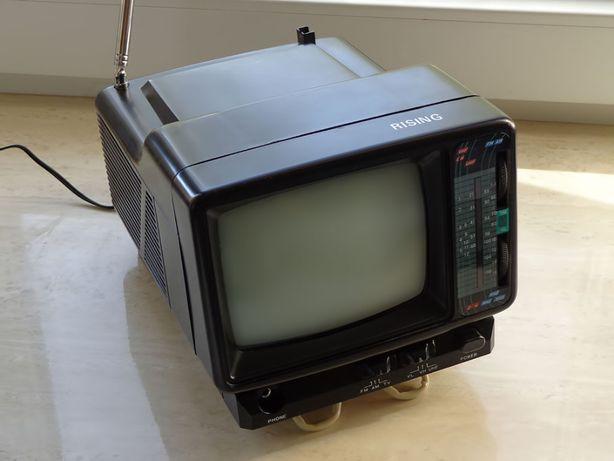 """Портативний ч/б телевізор-радіо Rising 1401, 5,5""""/ Телевизор-радио"""