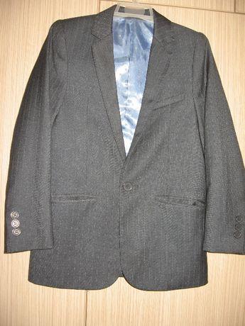 школьный пиджак на мальчика 9лет серый