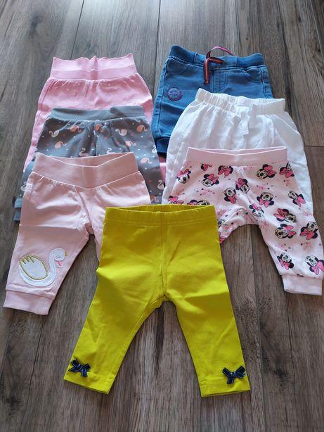 Spodnie dla dziewczynki r.62 7 sztuk