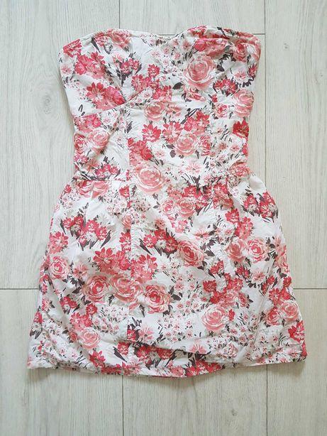 Sukienka pull an bear w kwiaty rozmiar M