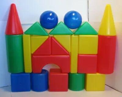 Набор детские пластиковые кубики теремок конструктор игрушка