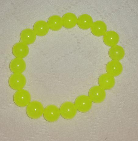 Bransoletka neonowy żółty