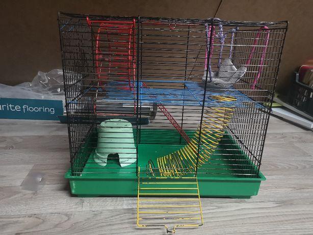 Klatka dla chomika myszy gryzonia piętrowa