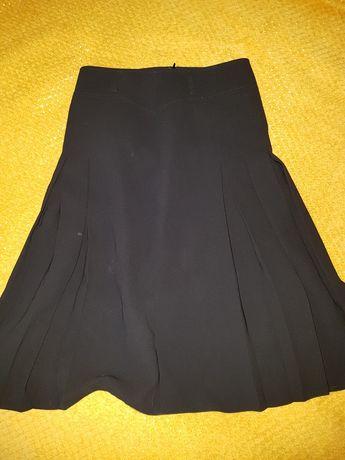 Spódnica plisowana, długa, czarna 36/38