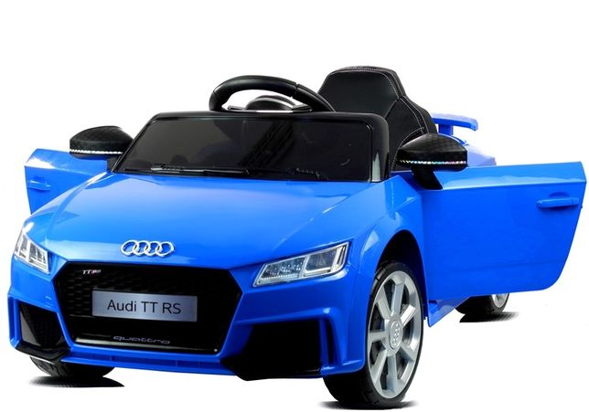 Samochód elektryczny AUDI TT RS Gumowe koła Pilot Skóra Niebieski